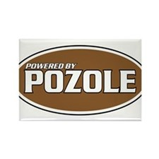 Powered By Pozole Rectangle Magnet