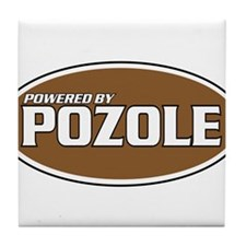 Powered By Pozole Tile Coaster