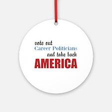 Career Politicians Round Ornament