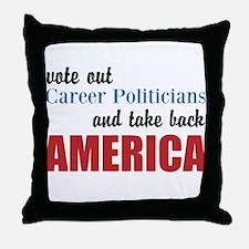Career Politicians Throw Pillow