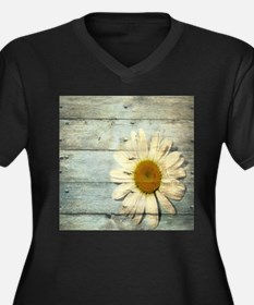 shabby chic country daisy Plus Size T-Shirt