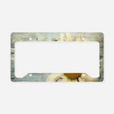 shabby chic country daisy License Plate Holder