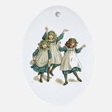 JOYFUL SISTERS Oval Ornament