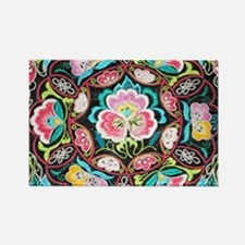 vibrant colorful flowers bohemian Magnets