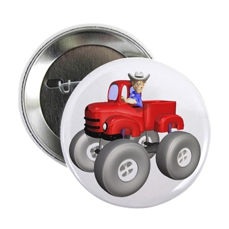 "Red Monster Truck 2.25"" Button (100 pack)"
