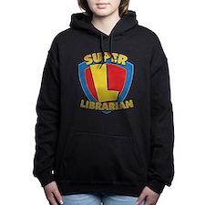 Cute Super librarian Women's Hooded Sweatshirt