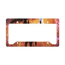 pink stars country horses License Plate Holder
