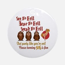 105th Birthday Party Gift Round Ornament