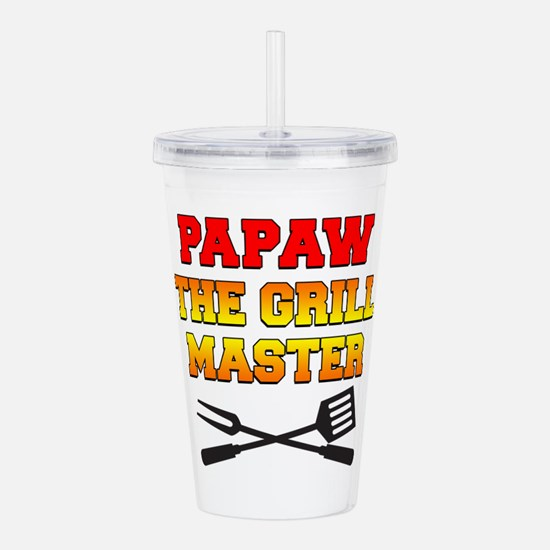 Papaw The Grill Master Drinkware Acrylic Double-wa