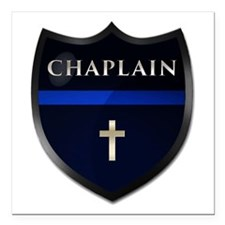 "Police Chaplain Shield Square Car Magnet 3"" X"
