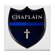 Police Chaplain Shield Tile Coaster