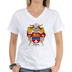 Fierro Family Crest Women's V-Neck T-Shirt