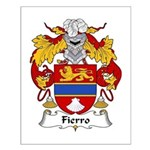 Fierro Family Crest Small Poster