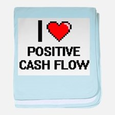I love Positive Cash Flow Digital Des baby blanket