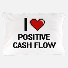I love Positive Cash Flow Digital Desi Pillow Case