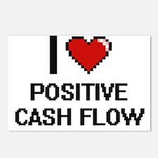 I love Positive Cash Flow Postcards (Package of 8)