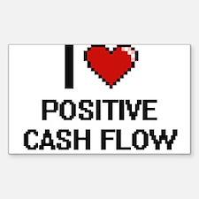 I love Positive Cash Flow Digital Design Decal