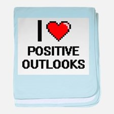 I Love Positive Outlooks Digital Desi baby blanket