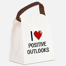 I Love Positive Outlooks Digital Canvas Lunch Bag