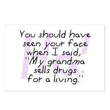 Grandma Sells Drugs Postcards (Package of 8)