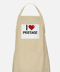 I Love Postage Digital Design Apron