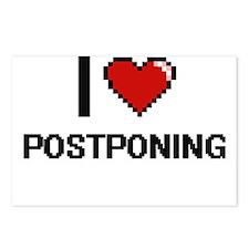 I Love Postponing Digital Postcards (Package of 8)