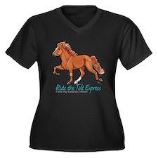 Icelandic Horse Tolt, Chestnut Plus Size T-Shirt