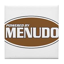 Powered By Menudo Tile Coaster