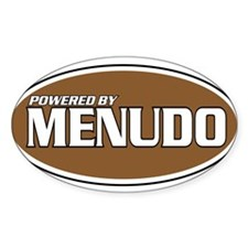 Powered By Menudo Oval Decal