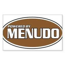 Powered By Menudo Rectangle Decal