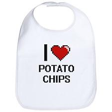 I Love Potato Chips Digital Design Bib