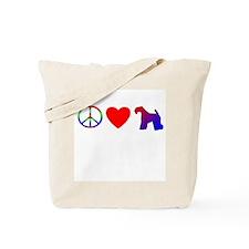 Peace, Love, Kerry Blue Tote Bag