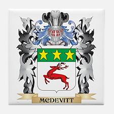 Mcdevitt Coat of Arms - Family Crest Tile Coaster
