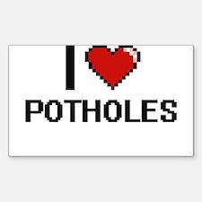 I Love Potholes Digital Design Decal