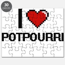 I Love Potpourri Digital Design Puzzle