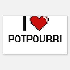 I Love Potpourri Digital Design Decal