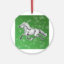 Unique Icelandic horse Round Ornament