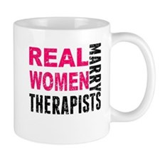 Real Women Marry Therapists Mugs