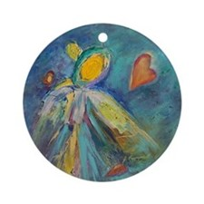 Angel Within Series 1 Round Ornament