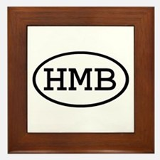 HMB Oval Framed Tile
