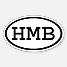 HMB Oval Oval Decal