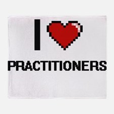I Love Practitioners Digital Design Throw Blanket
