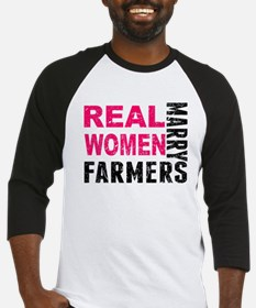 Real Women Marry Farmers Baseball Jersey