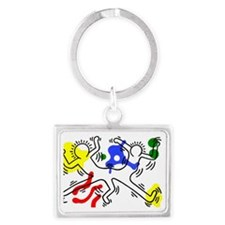 Keith Haring Landscape Keychain