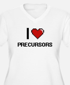 I Love Precursors Digital Design Plus Size T-Shirt