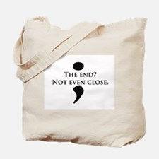 Semicolon Unfinished Tote Bag