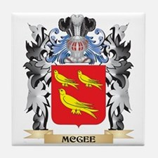 Mcgee Coat of Arms - Family Crest Tile Coaster