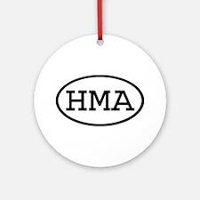 HMA Oval Ornament (Round)