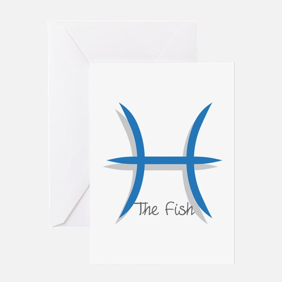 The Fish Sign Greeting Cards