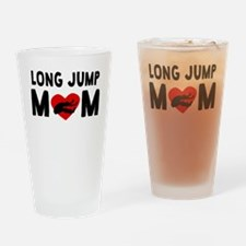 Long Jump Mom Drinking Glass